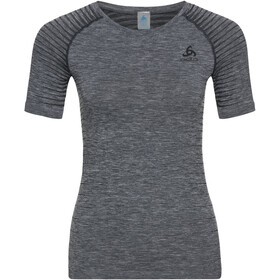 Odlo Performance Light Top Manga Corta Cuello Redondo Mujer, grey melange